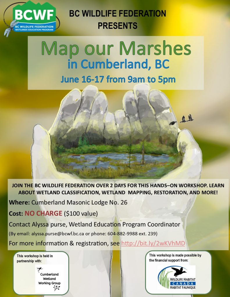 BCWF Map Our Marshes workshop poster